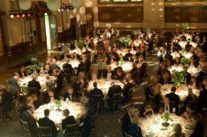 Diners at a corporate event in London