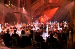 Photography of a corporate gala dinner at the Natural History Musum