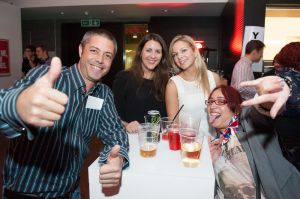 Staff of Time Out London enjoying themselves at the launch of Free Time Out