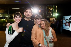 Time Out staff on the dancefloor at Central St Martins London launch event