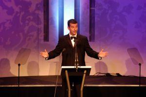 Speaker at awards event