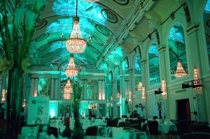 Financial awards event at the Grand Connaught Rooms in London