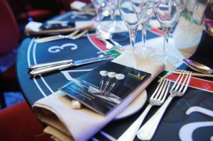 Table detail photography for an awards ceremony