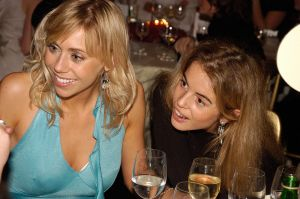 Guests at a corporate drinks party in London