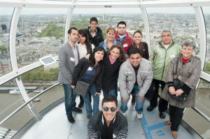 group tour of the London Eye 3