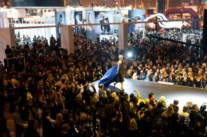 Crowd shot at HairWorld trade show in Paris